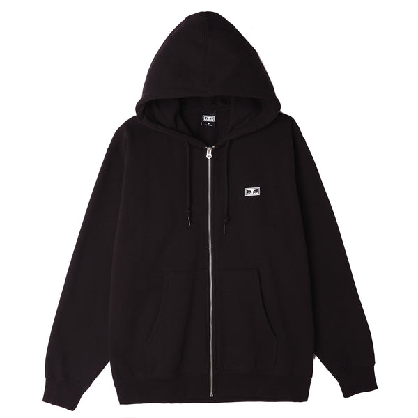 OBEY - ALL EYEZ II ZIP HOOD - BLACK