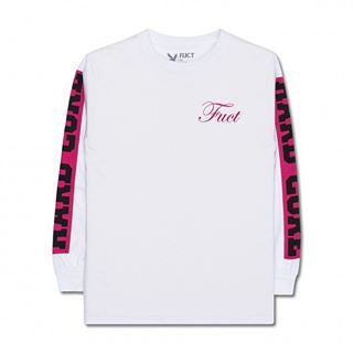 FUCT - Hardcore Long Sleeve Tee - White - THIS IS ALLEY