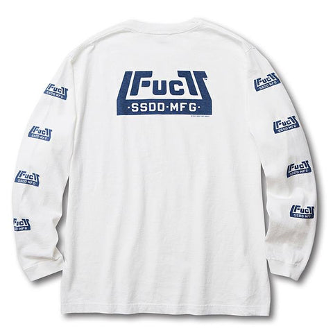FUCT SSDD - Skate Park Long Sleeve Tee - White