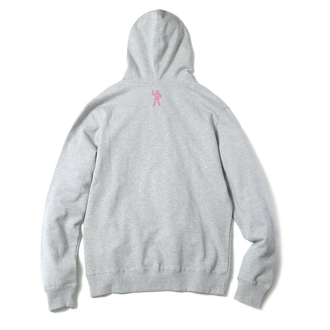 BILLIONAIRE BOYS CLUB - BB ARCH POPOVER HOODIE - HEATHER GREY