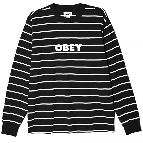 OBEY - DIVISION TEE LS - BLACK