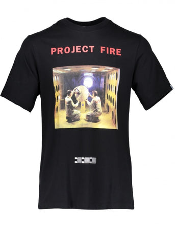 BILLIONAIRE BOYS CLUB - PROJECT FIRE TEE - BLACK