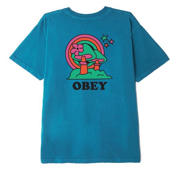 OBEY - HAPPY LAND TEE - CAPRI BREEZE