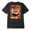 OBEY - OBEY FACE COLLAGE TEE - BLACK