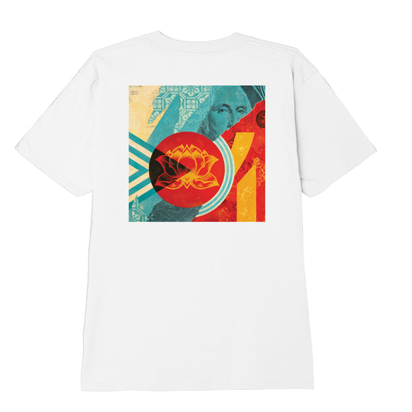 OBEY - OBEY FAN THE FLAME TEE - CANVAS WHITE