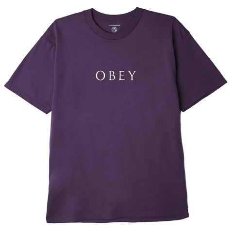 OBEY - NOVEL OBEY 3 TEE - MAUVE