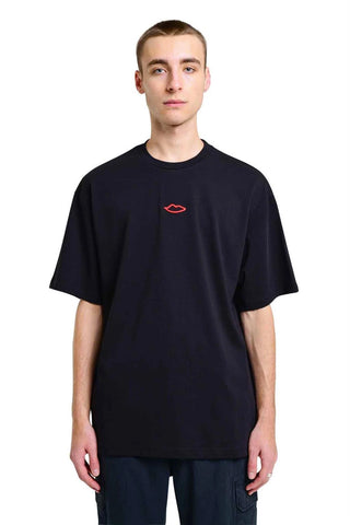 Sex Skateboards - Faces Back Print Oversized Tee - Black