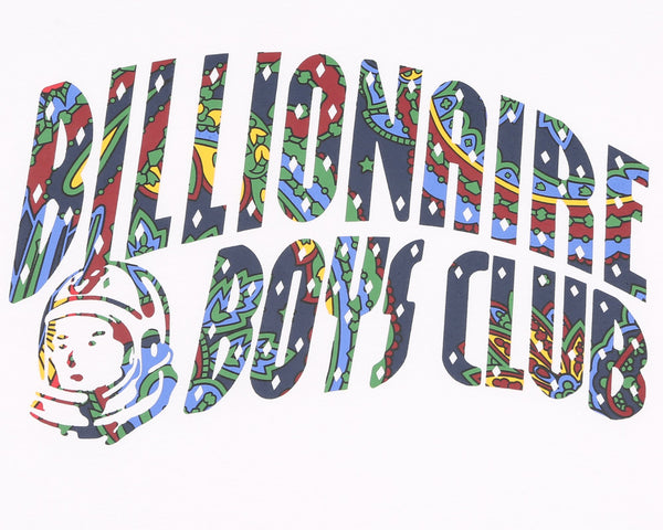 BILLIONAIRE BOYS CLUB - PAISLEY ARCH LOGO TEE - WHITE – THIS IS ALLEY f63e170cb41
