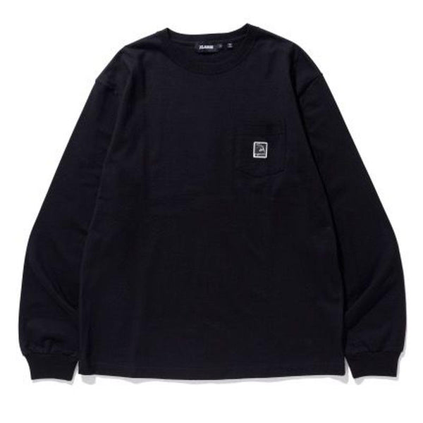 XLARGE - L/S Pocket Tee Square OG - Black