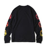 BILLIONAIRE BOYS CLUB - GRADIENT HELMET LS TEE - BLACK