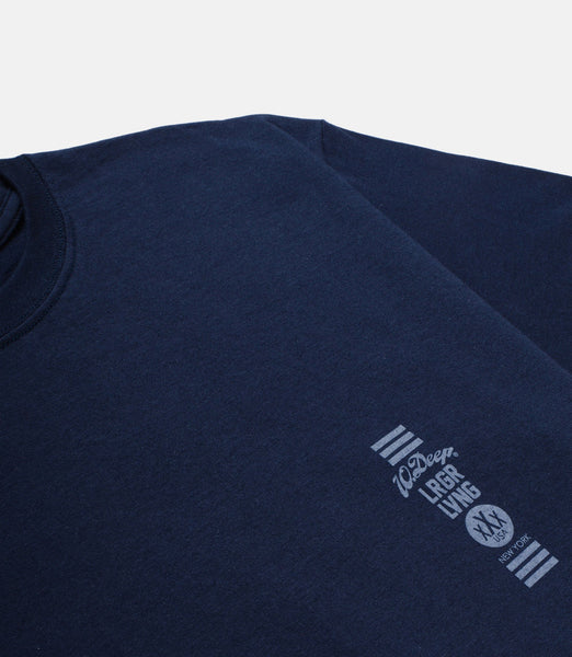 10 Deep - Triple Stack Tee - Navy - THIS IS ALLEY