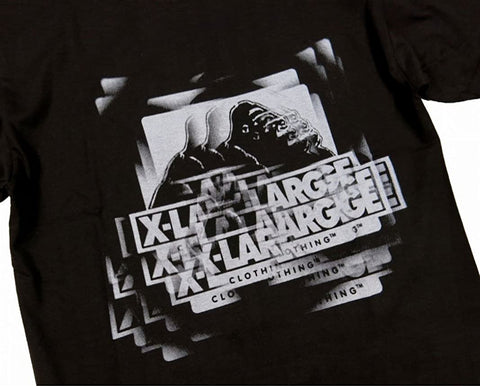 XLARGE - DOUBLE VISION SS TEE - BLACK