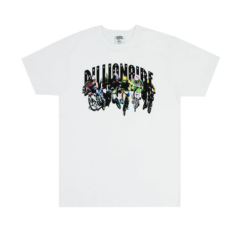 BILLIONAIRE BOYS CLUB - BB BMX ARCH TEE - WHITE
