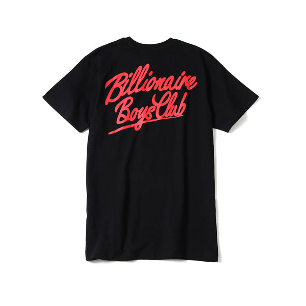 BILLIONAIRE BOYS CLUB - BB NEON GLOBE SS TEE - BLACK