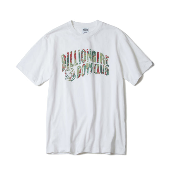 BILLIONAIRE BOYS CLUB - REFLECTIVE LIZARD CAMO TEE - WHITE