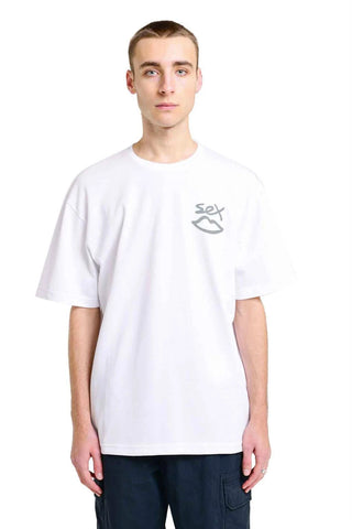 Sex Skateboards - 3M Reflective Back Tee - White