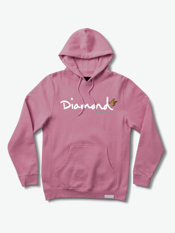 Diamond Supply Co - Paradise OG Script Pigment Dyed Hoodie - Maroon