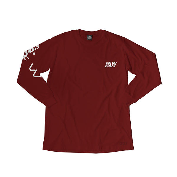 AGELESS GALAXY - Discovery Tee LS 007 - Burgundy - THIS IS ALLEY