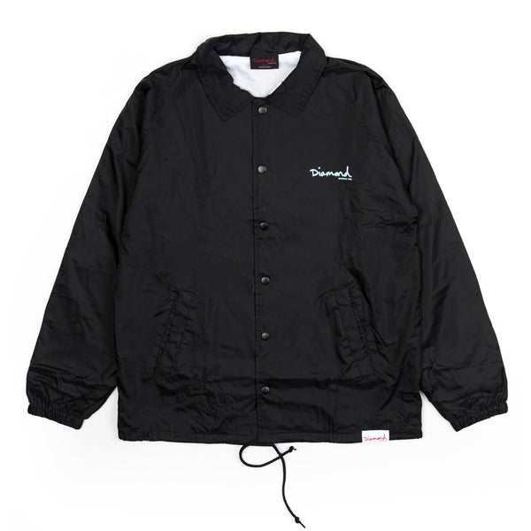 Diamond Supply Co - Core OG Script Coach Jacket - Black