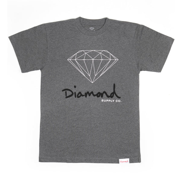 Diamond Supply Co - Core OG Sign Tee - Heather Grey
