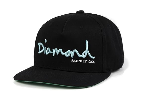 Diamond Supply Co - Core OG Script Snapback - Black