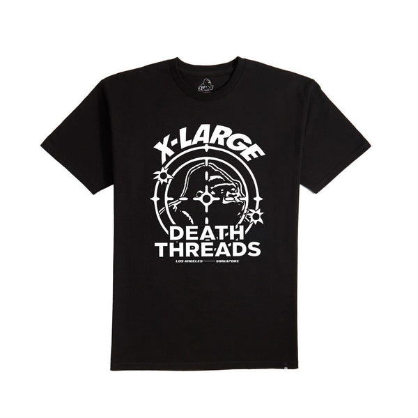 XLARGE - DEATH THREADS X XLARGE TEE - BLACK