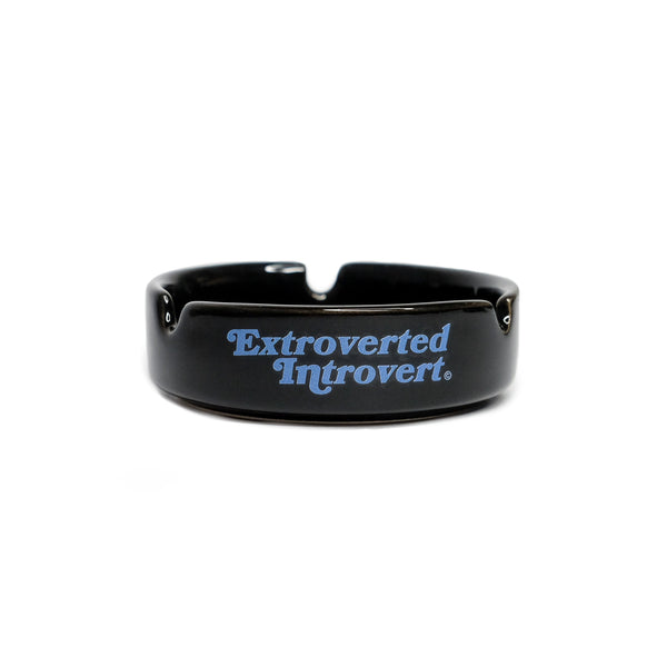 Emblem Black Blue Ashtray - extrovertedintrovert