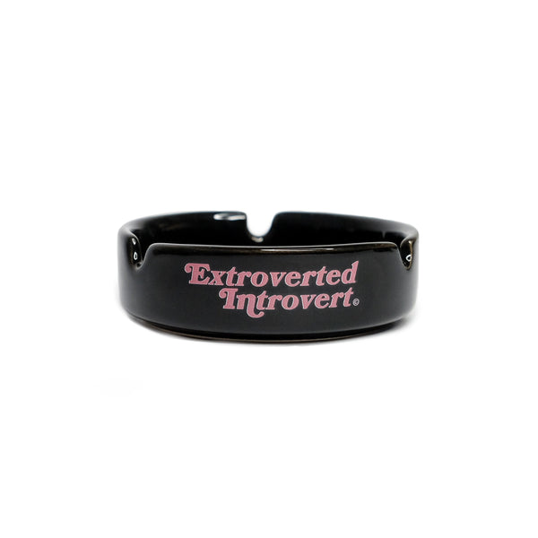Emblem Black Pink Ashtray - extrovertedintrovert