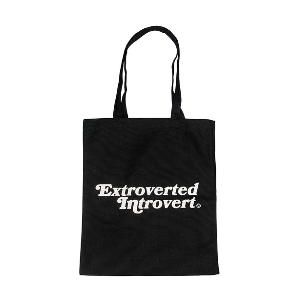Essential Jet Black Shopping Tote - extrovertedintrovert