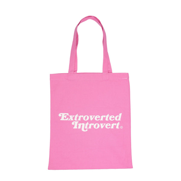 Essential Pastel Pink Shopping Tote - extrovertedintrovert