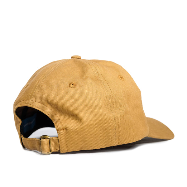 Text Logo 6 Panel Camel Cap - extrovertedintrovert