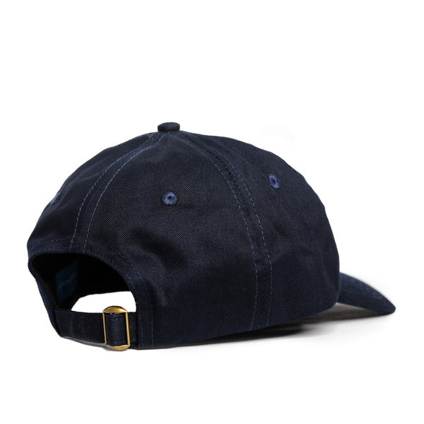 Text logo 6 Panel Navy Cap - extrovertedintrovert
