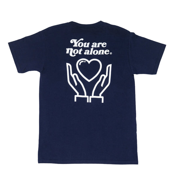 You Are Not Alone Standard Navy Tee - extrovertedintrovert