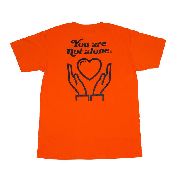 You Are Not Alone Standard Orange Tee - extrovertedintrovert