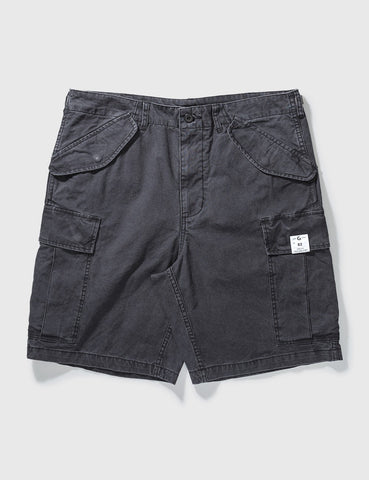GROCERY - Washed Cargo Shorts - Black