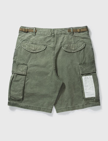 GROCERY - Washed Cargo Shorts - Olive