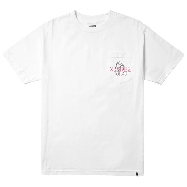 XLARGE - LOOKOUT SS POCKET TEE - WHITE