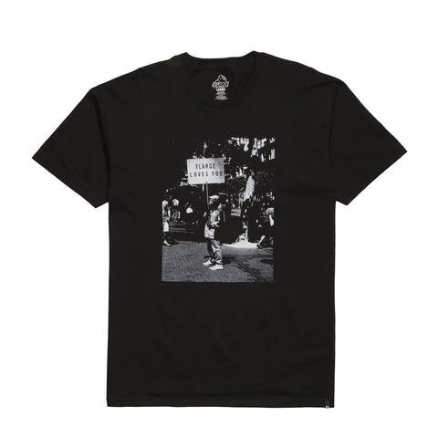 XLARGE - LOVE CONQUERS TEE - BLACK
