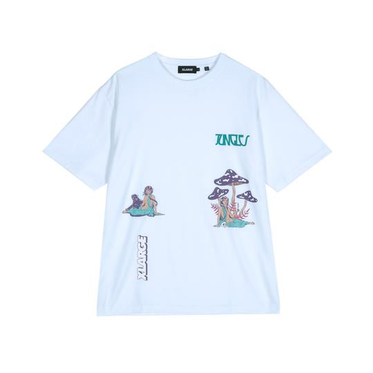 XLARGE x JUNGLES - S/S RELAXED WOMAN TEE - WHITE