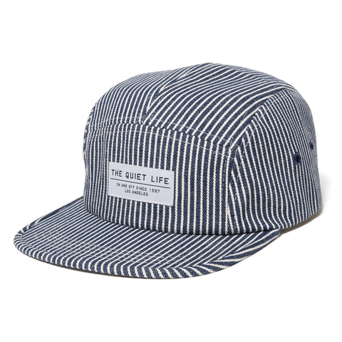 The Quiet Life - Railroad 5 Panel Camper Hat - Stripe