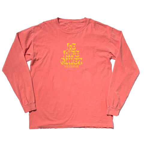 The Quiet Life - Psych Long Sleeve Tee - Salmon