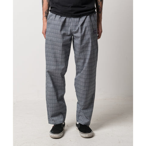 The Quiet Life - Houndstooth Beach Pants - Black/White