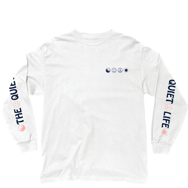 The Quiet Life - World Peace Long Sleeve Tee - White
