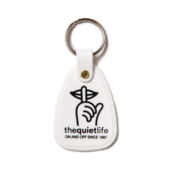 The Quiet Life - Shhh Keychain - White