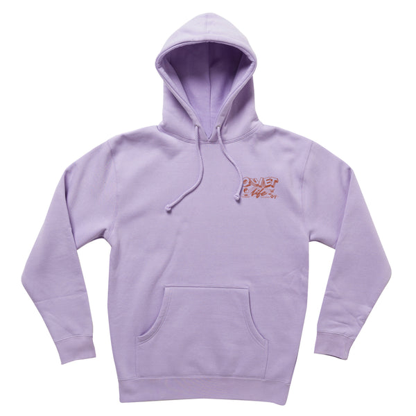 The Quiet Life - Grid Pullover Hoodie - Lilac