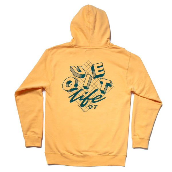 The Quiet Life - Grid Pullover Hoodie - Squash