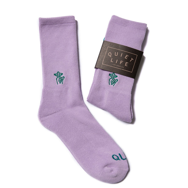 The Quiet Life - Shhh Socks - Lilac