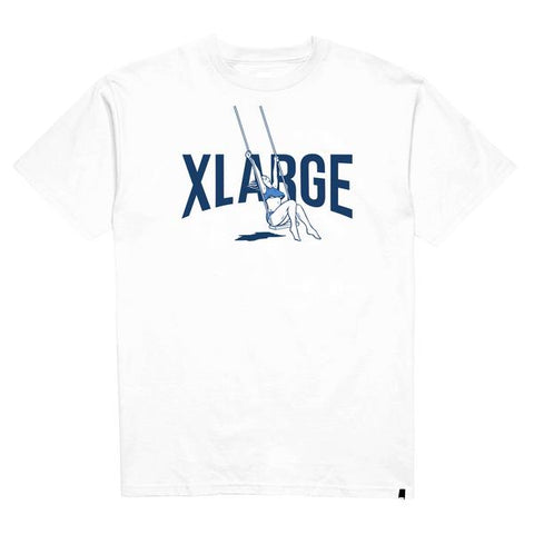 XLARGE - SWING SS TEE - WHITE - THIS IS ALLEY