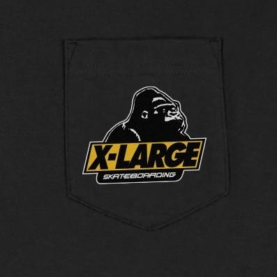 XLARGE - OLD OG SKATEBOARDING POCKET TEE - BLACK