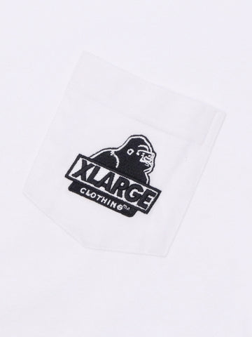 XLARGE - Embroidery Slanted OG Pocket Tee - White